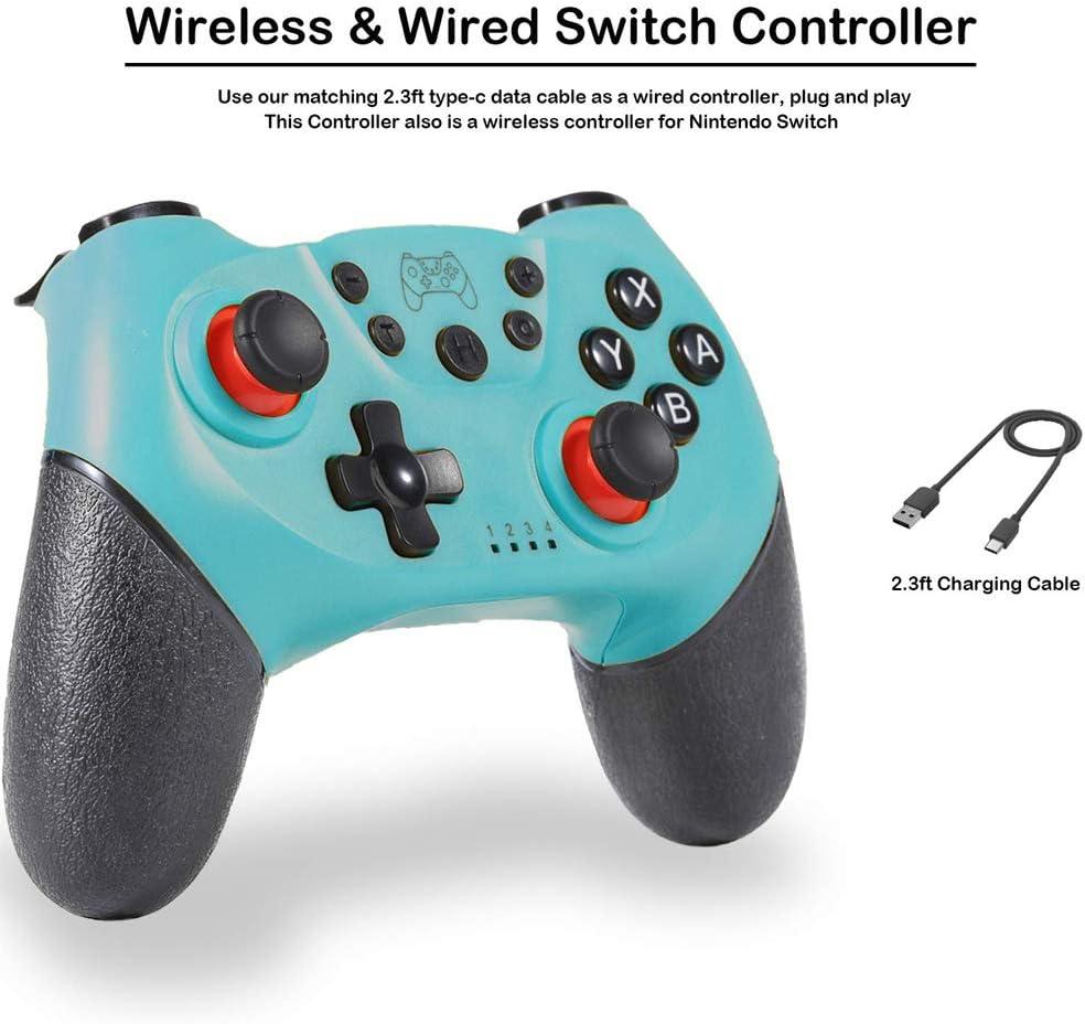 Controlador inalámbrico para Nintendo Switch/Switch Pro, Bluetooth Joystick con Doble vibración, Turbo, 6-Axis Gyro Function Gamepad Verde: Amazon.es: Electrónica