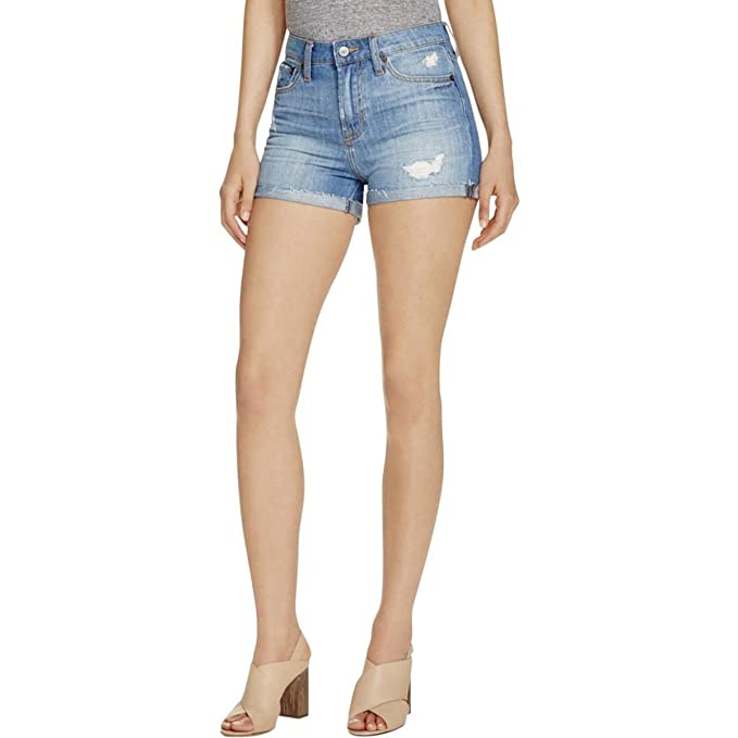 0a82d19b82e Jean Shop Womens Hannah Denim Distressed Denim Shorts Blue 27 at Amazon  Women s Clothing store