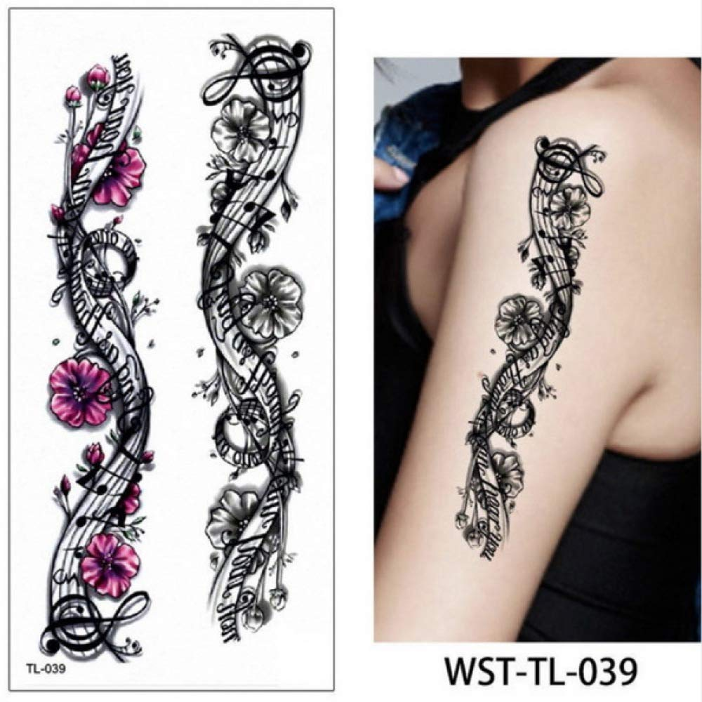 Handaxian 3 Piezas Tatuaje Tatuaje de ángel Femenino Diente de ...