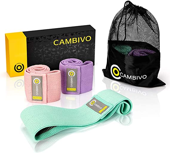 CAMBIVO Booty Bands Hip Resistance Bands for Legs and Butt