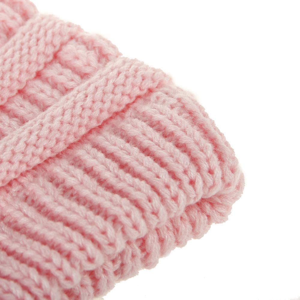 Xshuai Baby Hat for 2-6 Years Old Kids 2018 New Toddler Baby Girl Boy Winter Warm Letter Ball Hats Knitted Wool Headgear Children Beanie Hat Cap