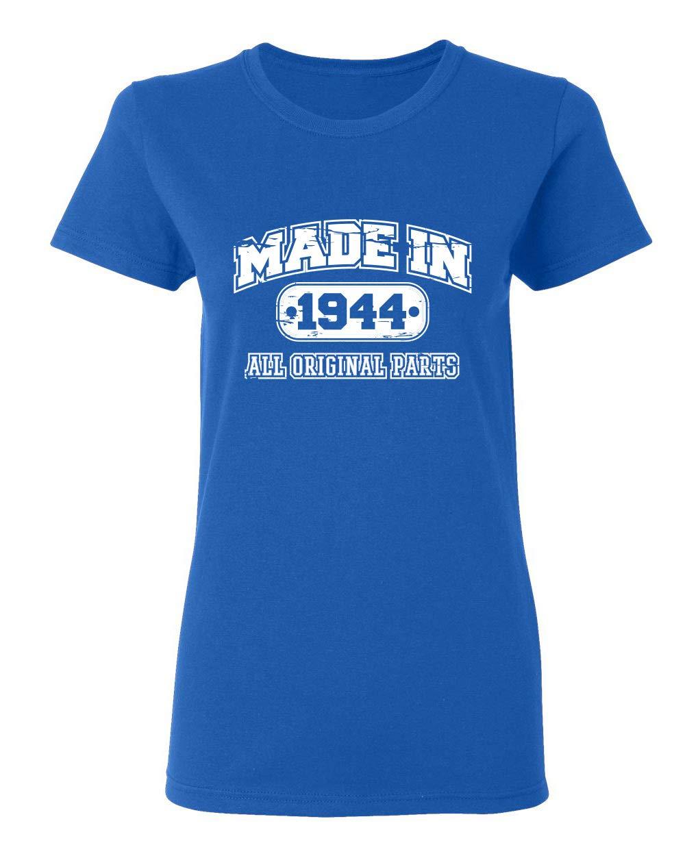 75th Birthday Sarcastic Graphic Novelty Funny T Shirt Royal 2306