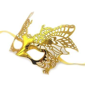 Mascara Facial Careta Protector de Cara dominó Frente Falso COS Maquillaje Danza Halloween máscara águila Oro