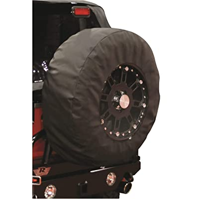 "Rampage Products 783535 Universal X-Large Window Pane Tire Cover with 17"" Diameter Window, Black Diamond: Automotive"