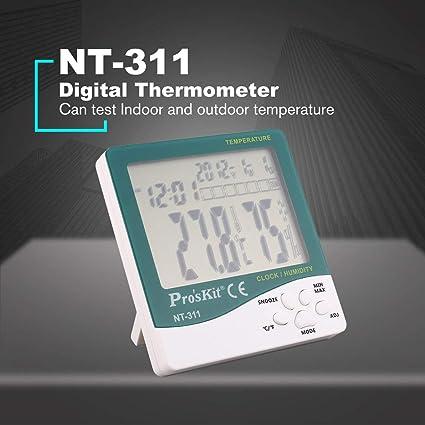 Footprintse sensor temperatura;reloj coche ProsKit NT-311 Termómetro digital Higrómetro Pantalla