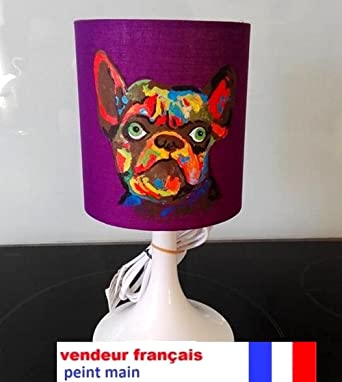 Lampe De Chevet Peint Main L Idee All Chien Bouledogue Amazon Fr