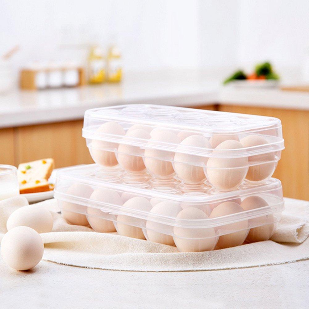 Estuche de almacenamiento para huevos con compartimento para frigor/ífico
