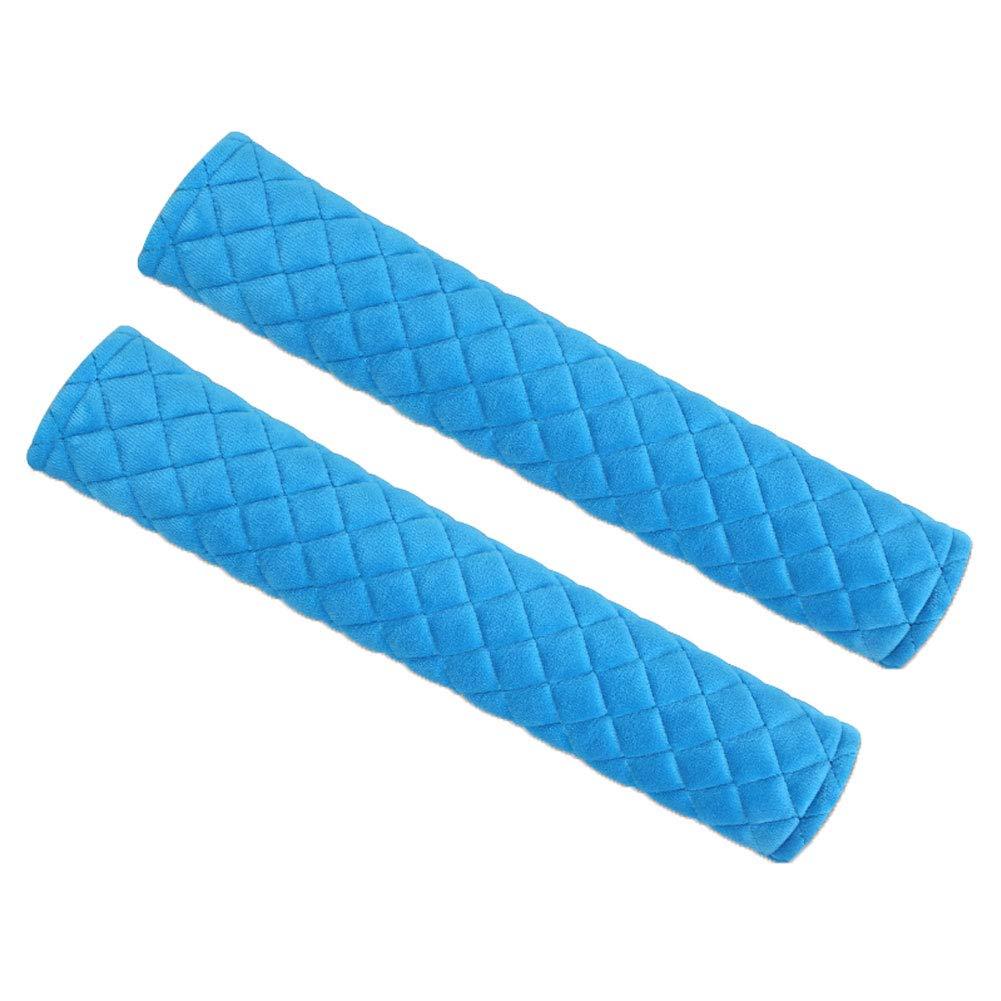 newhashiqi Car Seat Belt Cover Short Plush 1 Pair Car Vehicle Soft Warm Plush Winter Safety Seat Belt Shoulder Pads Cover Red