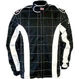 K1 Race Gear 21-TRI-NW-ML Black/White Medium/Large Single Layer Triumph PROBAN Cotton SFI Rated Fire Jacket
