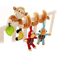 Yeahibaby Mono lindo diseño infantiles bebé actividad espiral