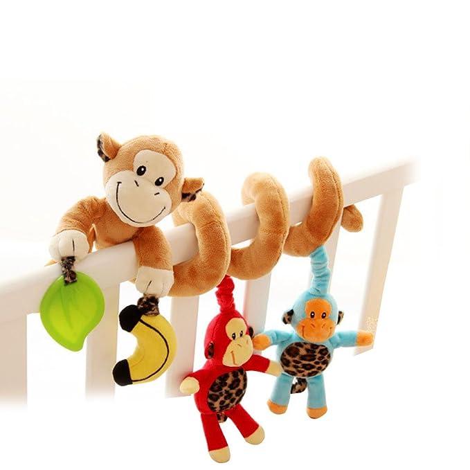 Yeahibaby Mono lindo diseño infantiles bebé actividad espiral cama cochecito juguete coche asiento actividad juguete de 0 a 36 meses: Amazon.es: Juguetes y ...
