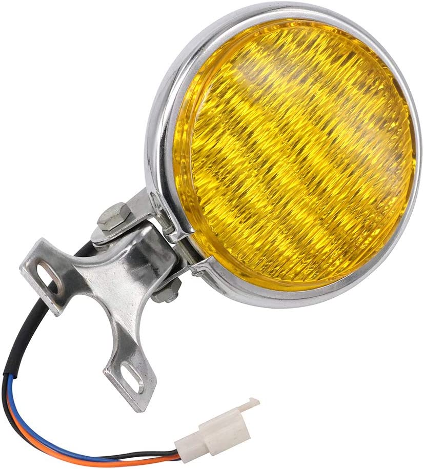 Amber Lens Motorcycle 5.9 Inch LED Headlight Chrome Headlamp Hi//Lo Beam For Harley Honda Cafe Racer Bobber Custom Chopper