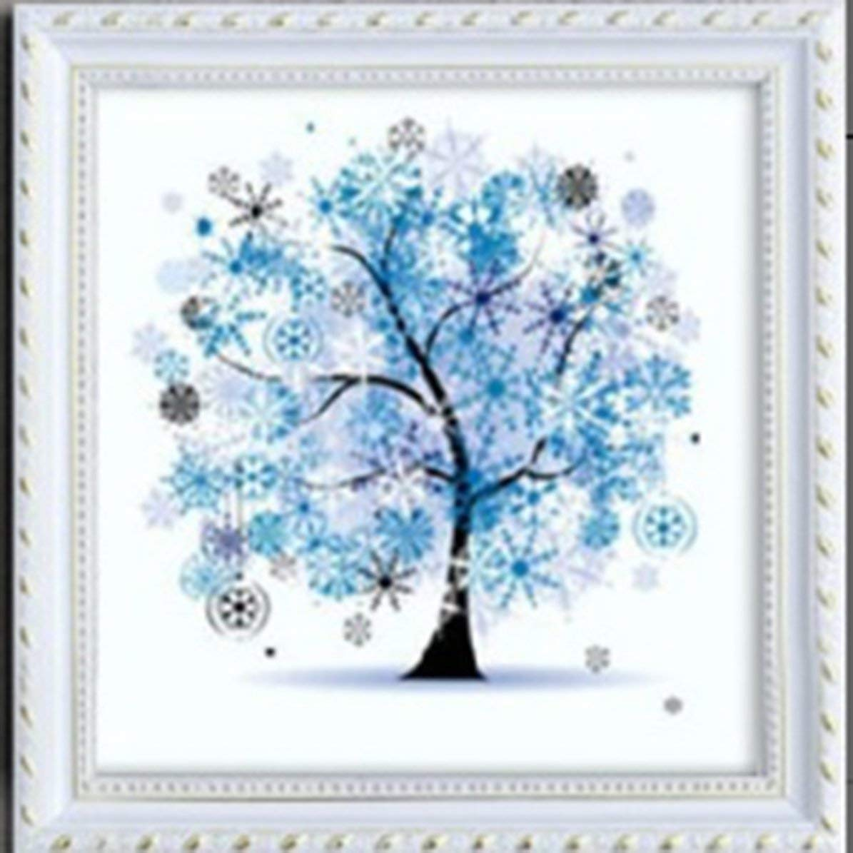 ウィンターダイヤモンドペインティング 5D DIY ダイヤモンドペインティング 刺繍 ラインストーン クロスステッチ アートクラフト 家庭用壁装飾 B07RP1B2B6