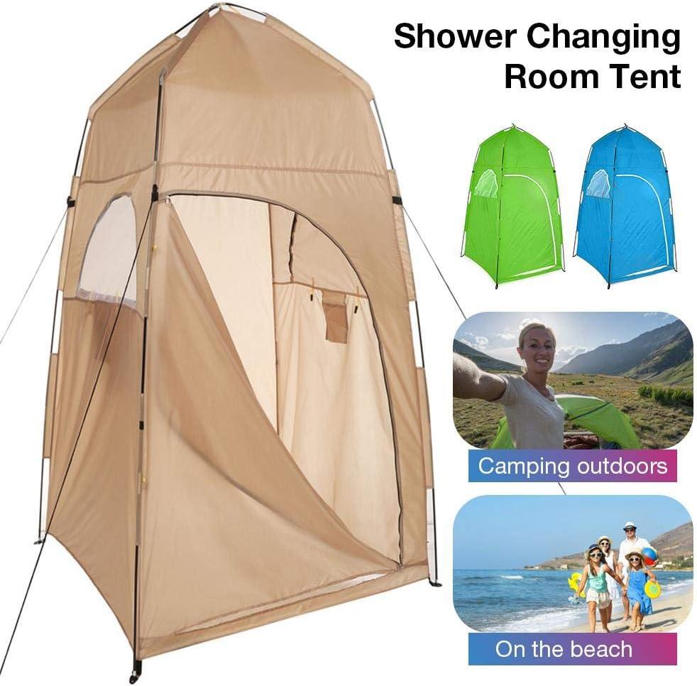 Draagbare Instant POP Up Tent, Camping Toilet Douche Veranderen Eenpersoonskamer Privacy Travel Tent, Draagbaar met Draagtas Koffie