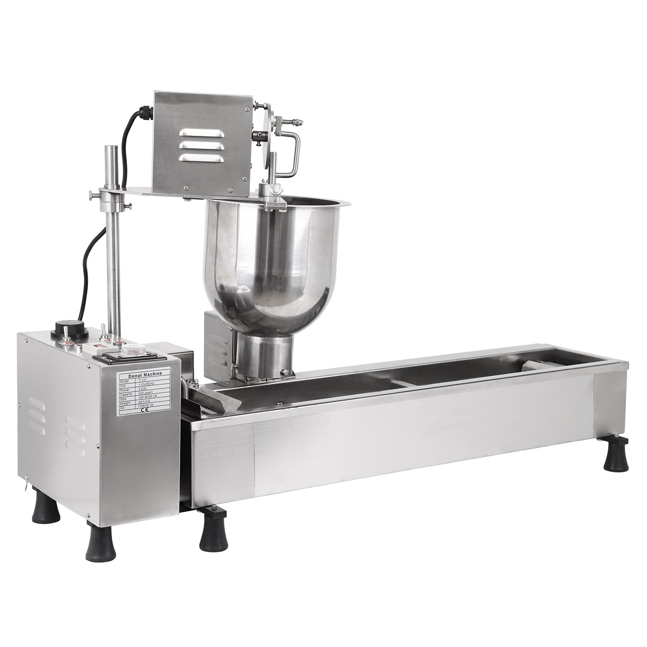 Ridgeyard Commercial Automatic Donut Making Machine Auto Donut Maker Machine with 3 Sizes Molds and 7L Bucket 110V 3000W, Ship From US by Ridgeyard (Image #3)