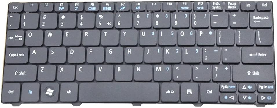 Eathtek Replacement Keyboard for Acer Aspire One 521 522 533 D255 D255E D257 D260 D270 NAV70 PAV01 PAV70 ZH9 AO521 AO522 AO533 AOD255 AOD255E AOD257 AOD260 AOD270 Series Black US Layout,