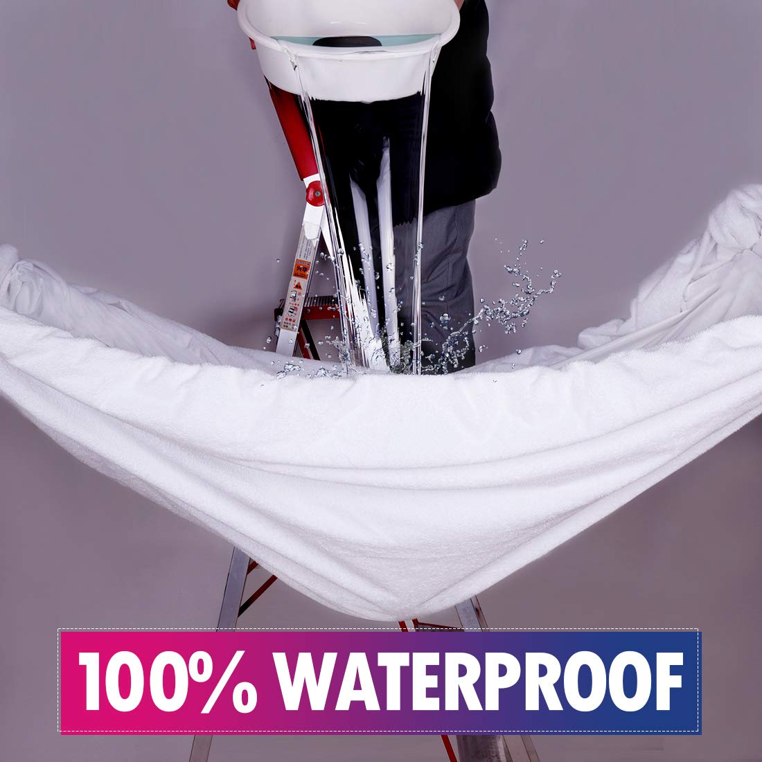 CottonHouse 100/% Waterproof Mattress Cover Protectors Twin Size Mattress Pad Hypoallergenic//Dust Proof 8-21 Deep Pocket Soft Breathable Noiseless