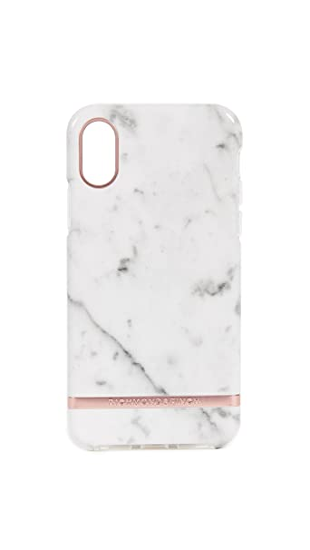 Højmoderne Amazon.com: Richmond & Finch White Marble iPhone X Case, White BF-57