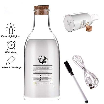EFGS Luz De La Botella De Leche LED, Temporizador De Apagado USB Mensaje Recargable Luz