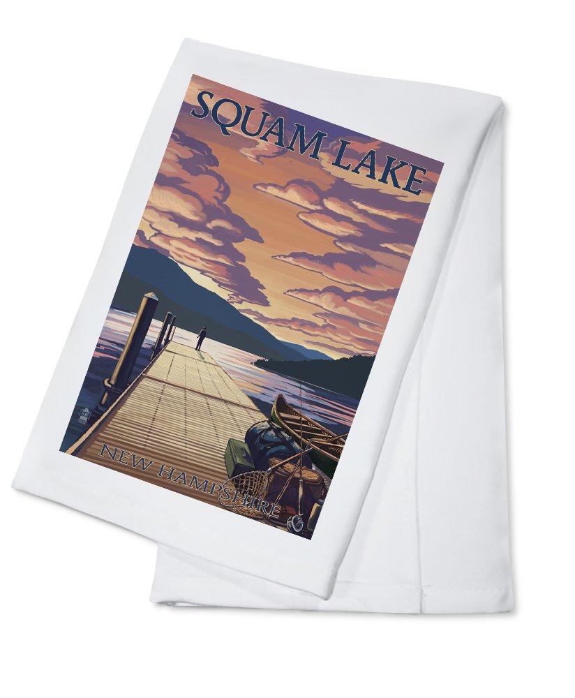 注目の Squam湖、New Hampshire – Dock and Sunset 12 Sunset x Cotton Towel 18 Metal Sign LANT-43825-12x18M B0184BQ9EM Cotton Towel Cotton Towel, ビジネスサポート福岡:4d2732f5 --- mcrisartesanato.com.br