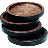 Noritake Kona Wood 3-3/4-Inch Coasters, Set of 4
