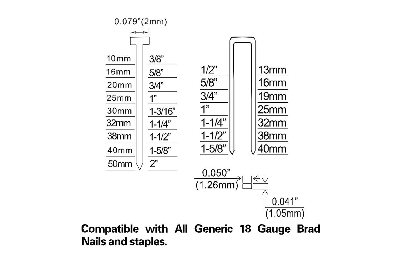NuMax S2-118G2 18-Gauge 2 In 1 Brad Nailer and Stapler by NuMax (Image #7)