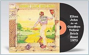"Elton John 1973 Goodbye Yellow Brick Road Album Cover 2½""X4"" Flexible Fridge Magnet, High Gloss Photo Finish"