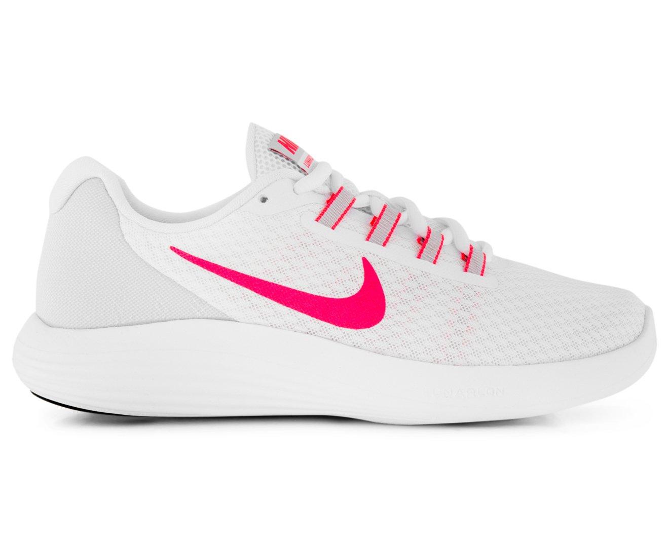 NIKE Womens Lunarconverge Lunarlon Fitness Running Shoes B000OB45UQ 10 M US|White Racer/Pink