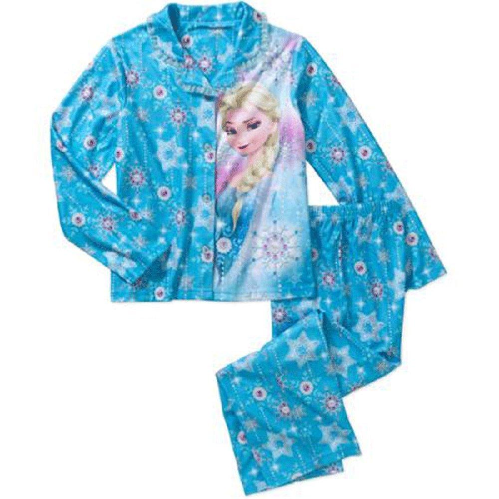 Disney Frozen Elsa Big Girls' Coat Pajamas Set (6-6x)