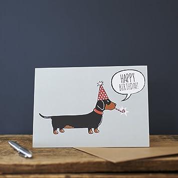 Dachshund Birthday Card Amazon Office Products