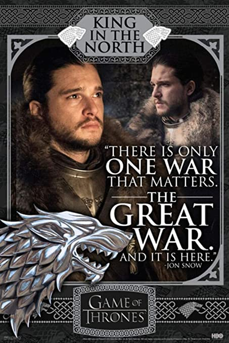 "Game of Thrones 7 Poster Print Jon Snow Daenerys size 16x24/"" 24x36/"""