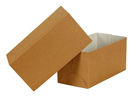 Image Unavailable  sc 1 st  Amazon UK & Premier Retail Gift Box-10 x 5 x 5 inch 2pc 100 Count Natural Kraft ...