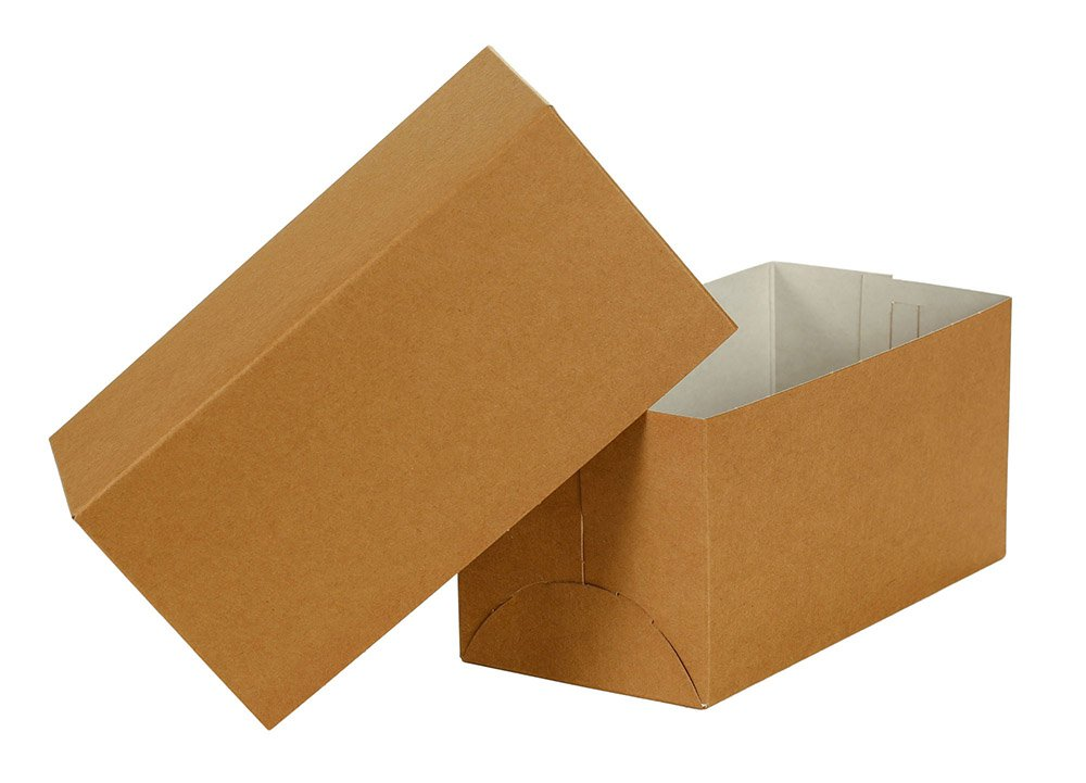Natural Kraft Gift Box 2 Piece 100 Count 10x5x5 inch