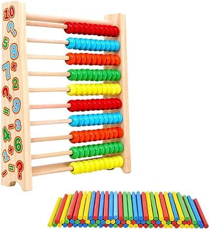 Coloré Disques calcul Table Jouet Aide Avec maths Maternelle En Bois Abacus