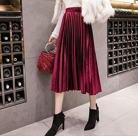 GDNTCJKY Faldas para Mujer Falda Plisada Falda Grande Swing Faldas ...
