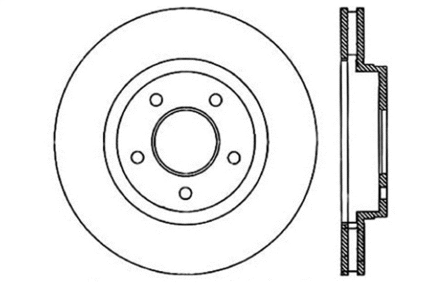 Front Left 1 Pack StopTech 128.62068L Sport Cross Drilled Brake Rotor