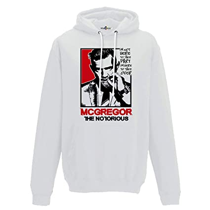 KiarenzaFD - Sudadera Capucha MMA Mcgregor The Notorious Boxeo Ring Mixed Martial Arts, KFC02322-