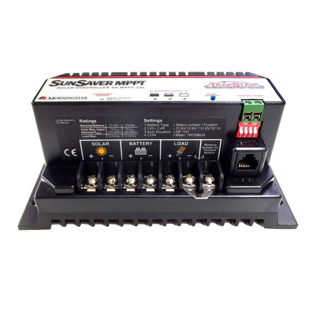 Morningstar Sunsaver TrakStar 15 Amp MPPT Charge Controller 12V/24V