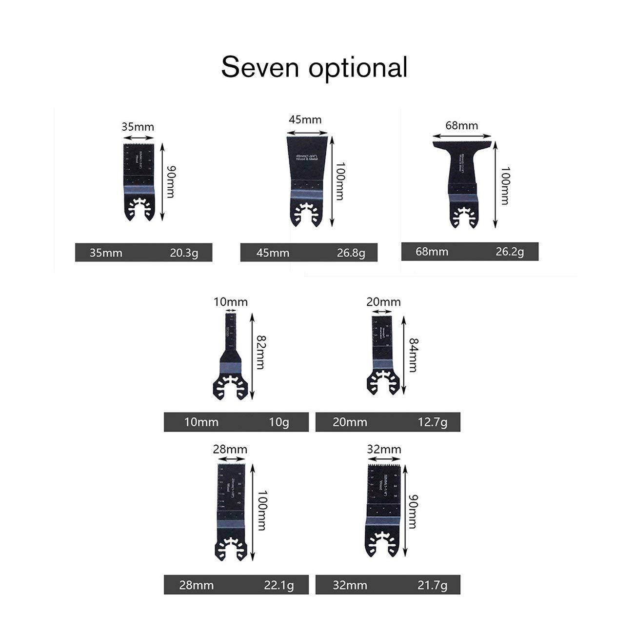 Negro y 28mm JIUY 10-68mm cambio r/ápido de herramientas multi de sierra oscilante Accesorios Hoja de Negro /& Decker Home Use las herramientas de corte de metal