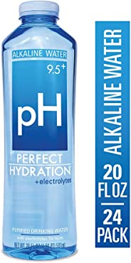 Perfect Hydration Alkaline Electrolyte Enhanced Water, 9.5+ pH | Ultra Purified Ionically Charged Minerals Added Drinking Wat