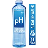Perfect Hydration Alkaline Electrolyte Enhanced Water, 9.5+ pH | Ultra Purified Ionically Charged Minerals Added Drinking Water | No Added Sodium, Chlorine, Fluorine, 20 Fl. Oz (Pack of 24)