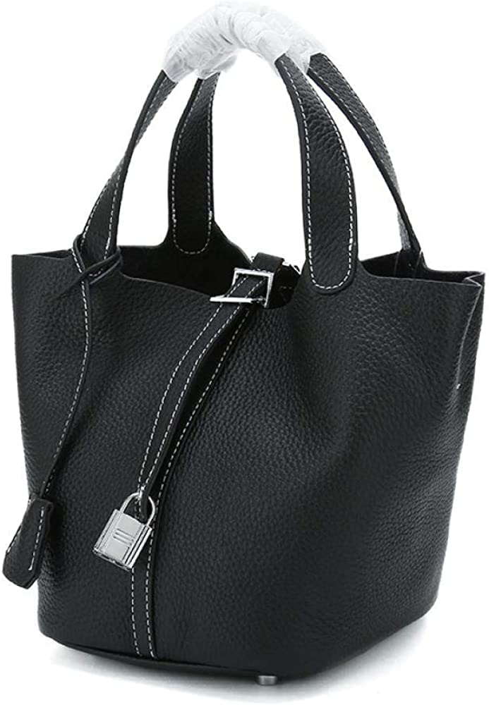 DJYTHLT Damen Leder Umhängetasche Taschen Tote Klassische Handtasche aus hochwertigem Kunstleder für Casual Büro Business Schule Einkauf Schultertasche aus Leder Black