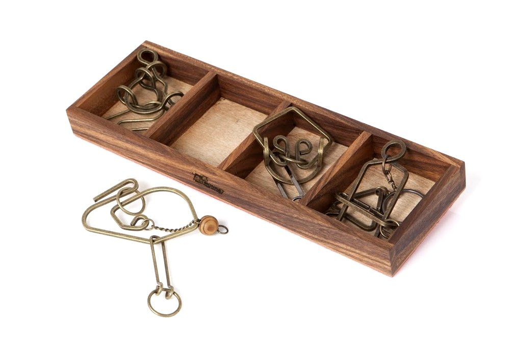 Monkey Pod Games Enigma Collection: Metal Brain Teasers Gift Set I (1-1-1) by MONKEY POD GAMES