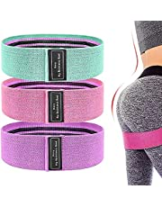 Booty Bands, Resistance Bands for Legs and Butt Exercise Bands - Non Slip Elastic Booty Bands, 3 Levels Workout Bands Women Sports Fitness Band for Squat Glute Hip Training