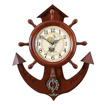 XIN Reloj Reloj de Pared de Madera Reloj Moderno Sala de Estar Creativo Reloj de Pared