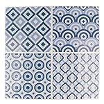Artemio 4fogli mosaico blu autocollante, Multicolore, 4quadretti di 12,5x 12,5cm 61XBJUImQcL. SS150