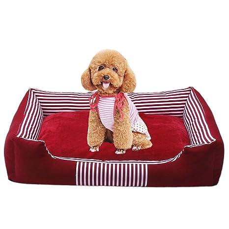 Cama para Perros Gato Cesta Mascotas Pequeña Medio Grande Lavable (XL:90*70