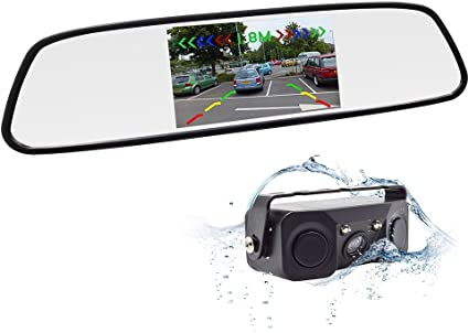Accfly Backup Camera Waterproof Rear View Camera Night Vision Car Rearview Mirror With Reverse//Rear View Cam tft-lcd 4332965185 style2