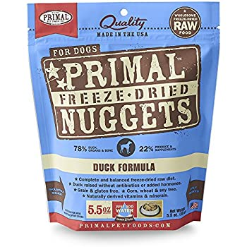 Primal Freeze Dried Duck Formula for Dogs 5oz