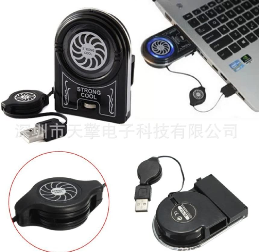 Lingduan Hount Laptop Cooler Vacuum Fan Rapid Cooling,Gaming Mate LED Display Noise Reduction Technology